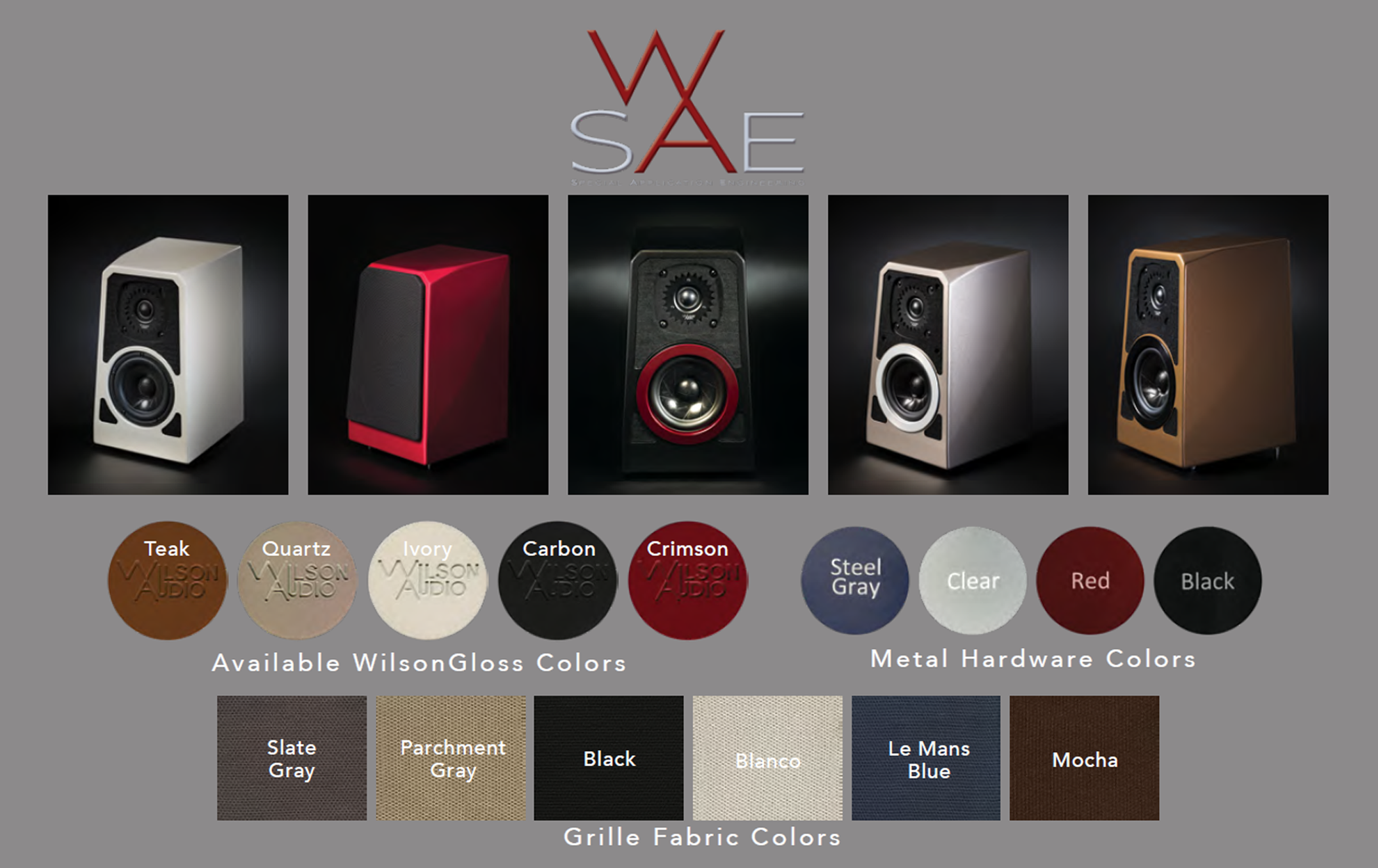 Wilson Audio TuneTot Colors & Trims